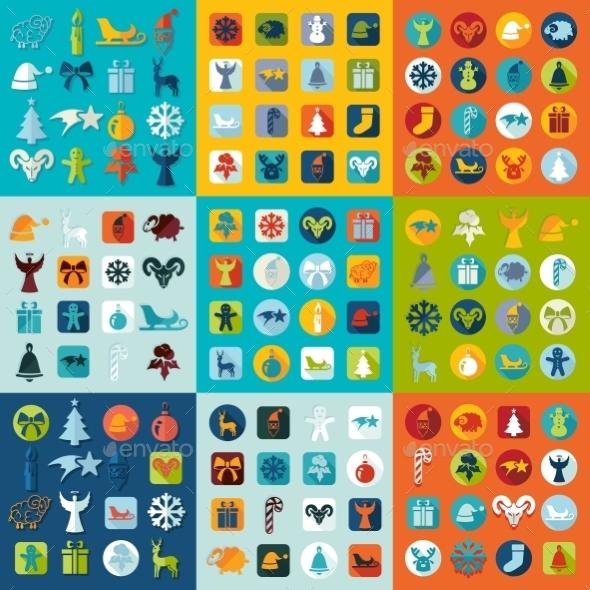 GraphicRiver Set of Christmas Icons 10952482