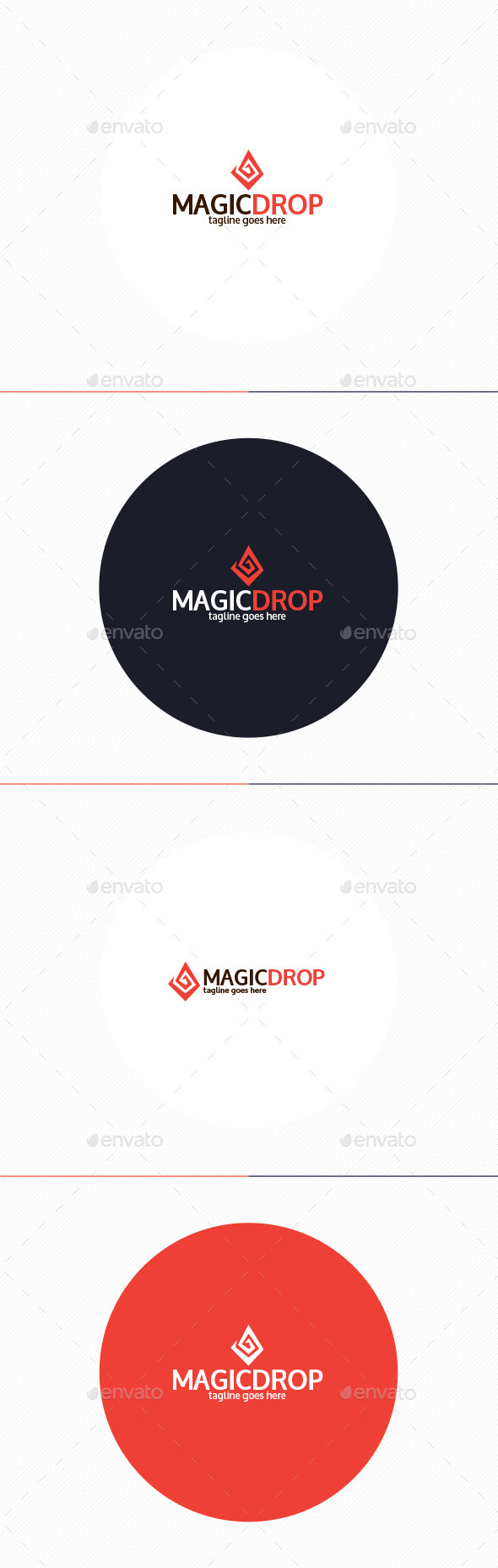 GraphicRiver Magic Drop Logo 10952492