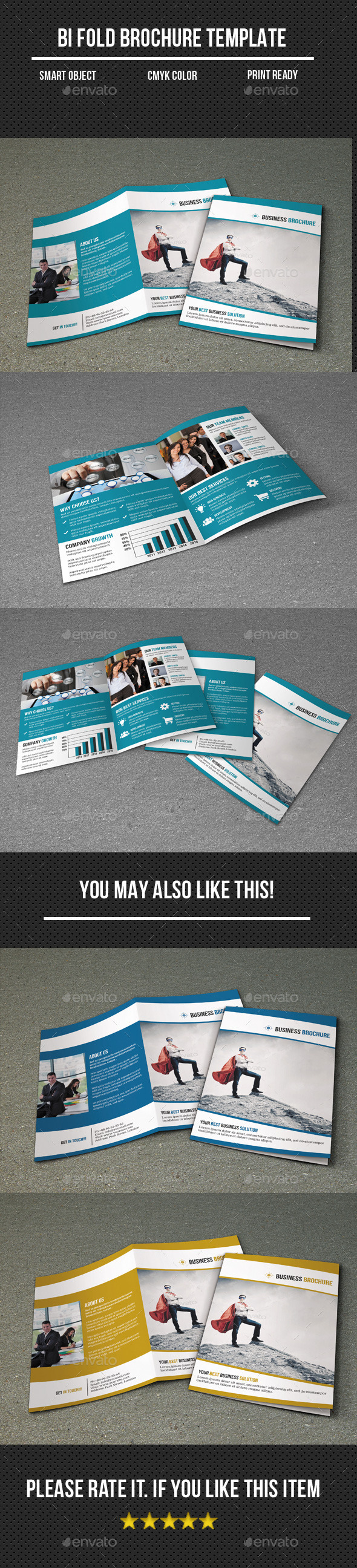 GraphicRiver Corporate Bi-Fold Business Brochure 10952707