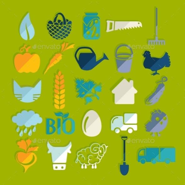 GraphicRiver Set of Agriculture Icons 10952714