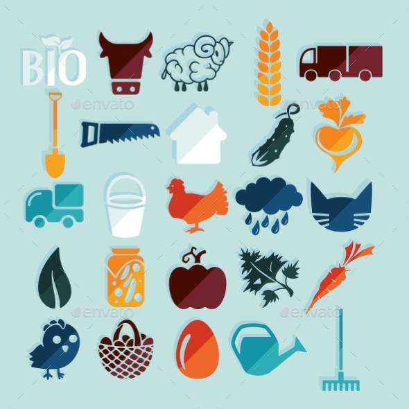 GraphicRiver Set of Agriculture Icons 10952735