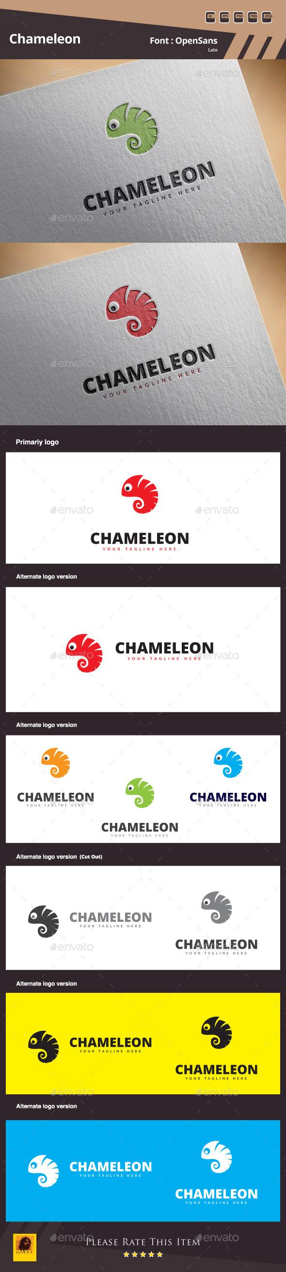 GraphicRiver Chameleon Logo Template 10952987