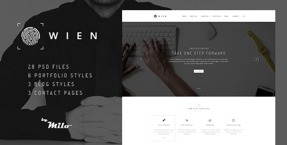ThemeForest Wien Modern Business Multi-purpose PSD Template 10953010