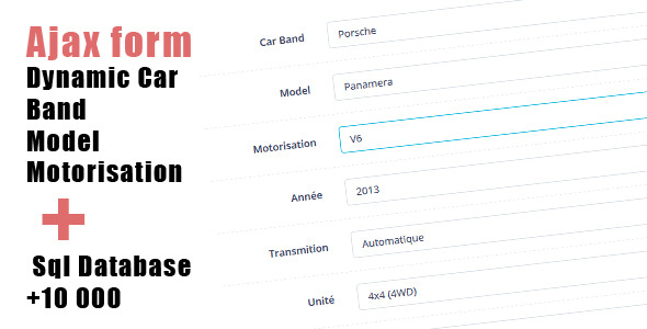 CodeCanyon Dynamic Car Manufacturer Model Engine 10908812