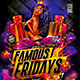 Flyer Famous Fridays Konnekt - GraphicRiver Item for Sale
