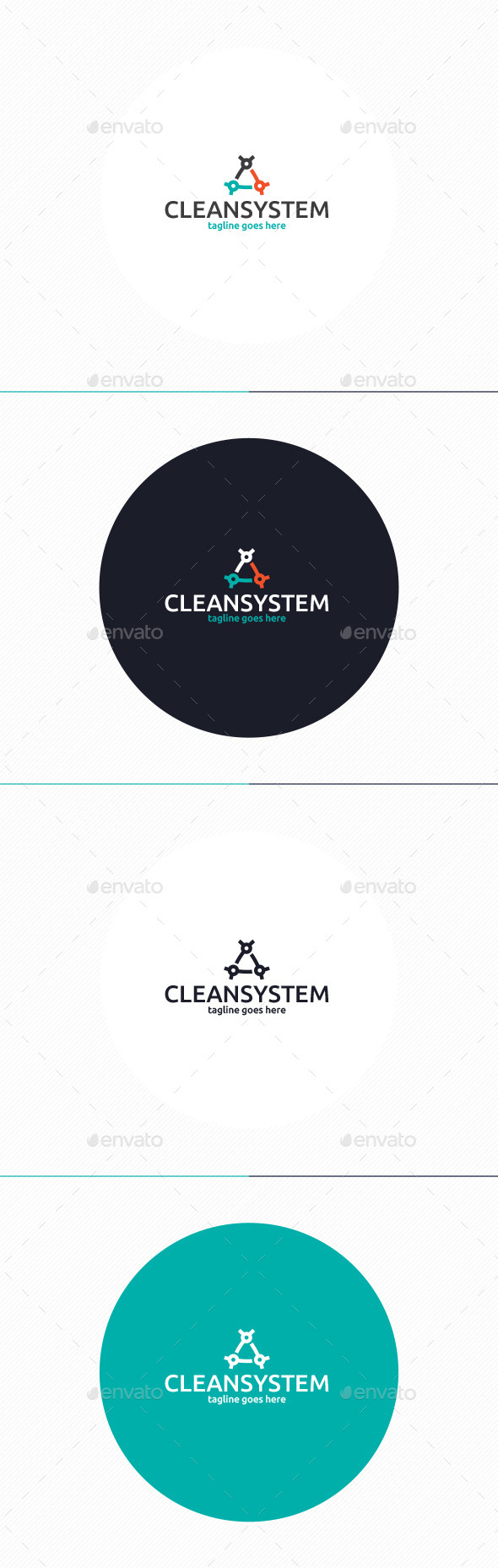 GraphicRiver Clean System Logo 10954052