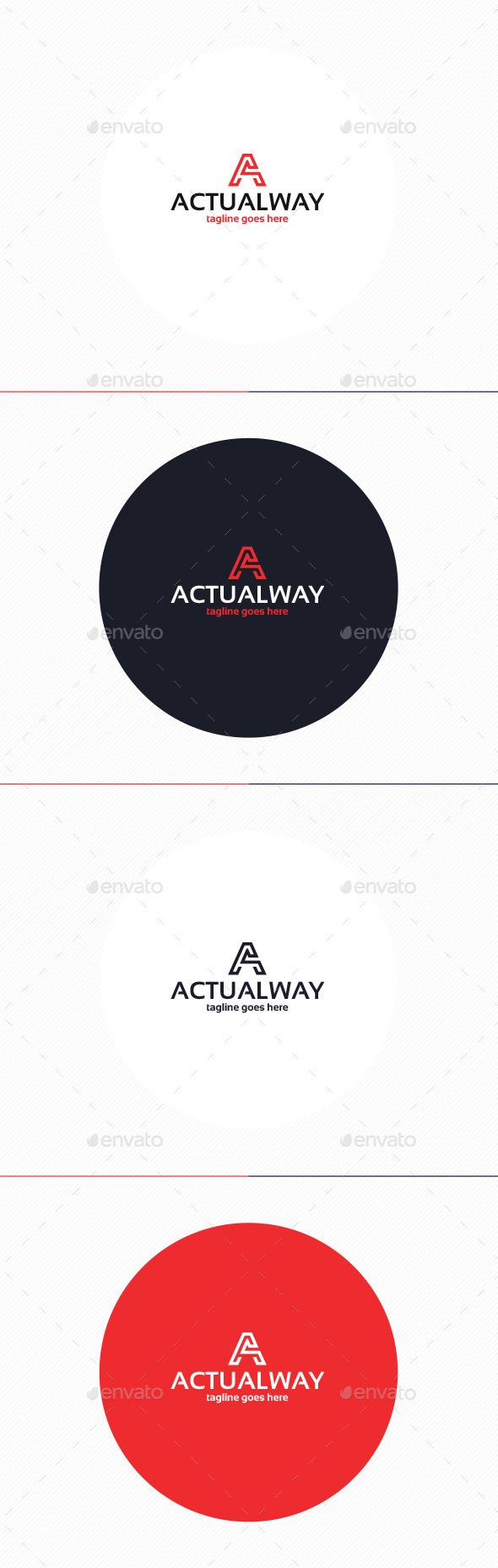 GraphicRiver Actual Way Logo Letter A 10954127