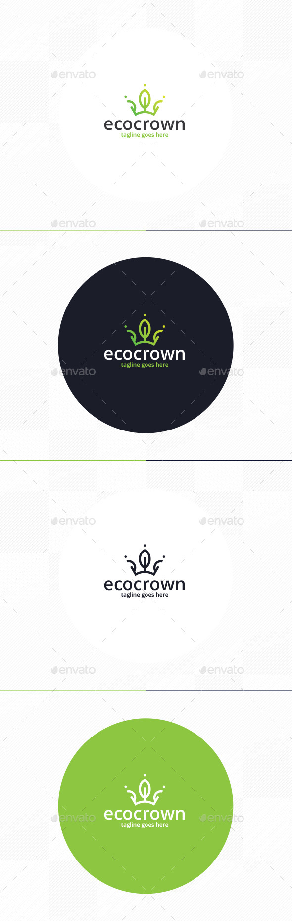 GraphicRiver Eco Crown Logo 10954340
