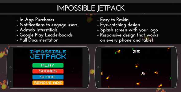 CodeCanyon Impossible Jetpack Admob & IAP & Leaderboards 10954347