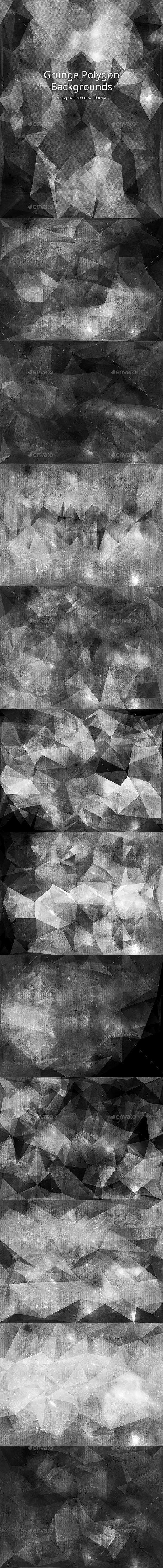 GraphicRiver Grunge Polygon Backgrounds 10954352