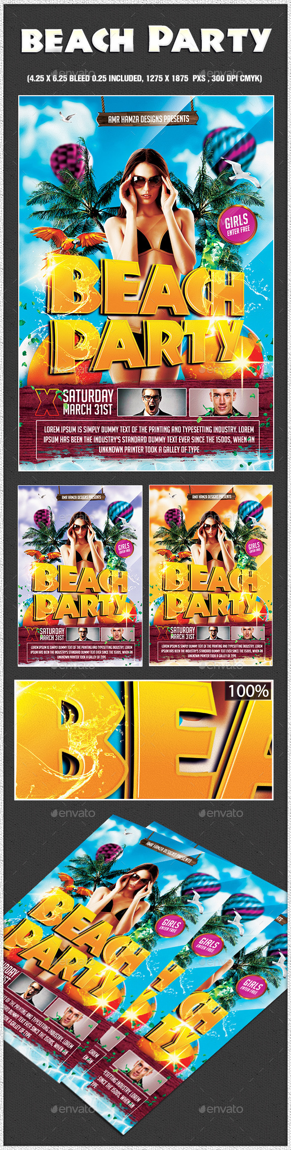 GraphicRiver Beach Party 10954451