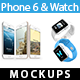 Phone 6 & Watch Mock-ups - GraphicRiver Item for Sale