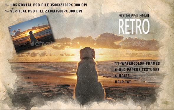 GraphicRiver Retro Photoshop PSD Template 10887781