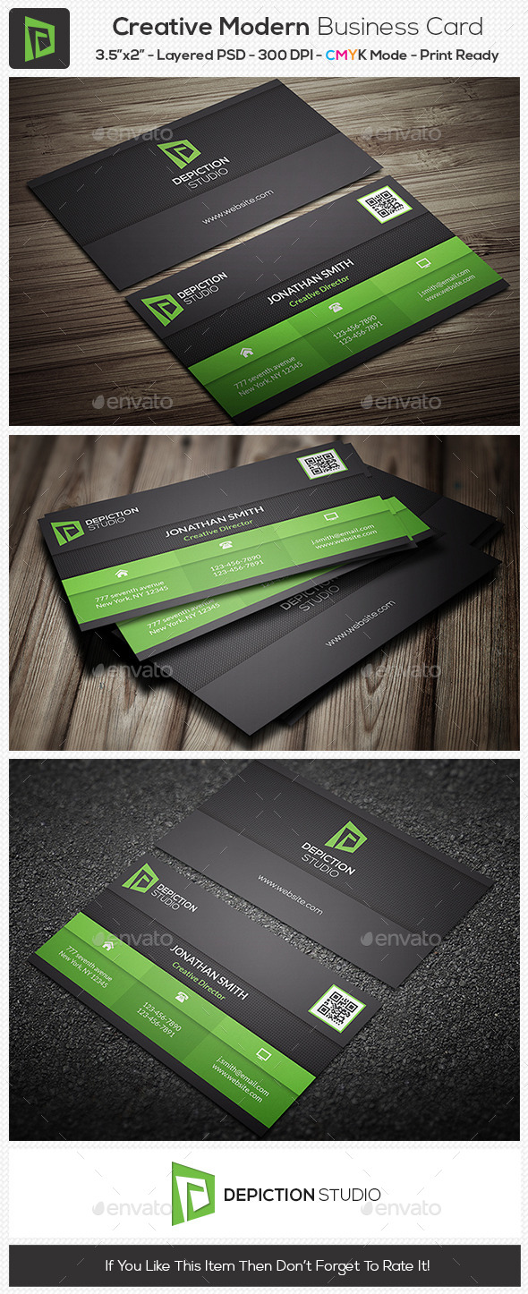 GraphicRiver Creative Modern Business Card 10954593