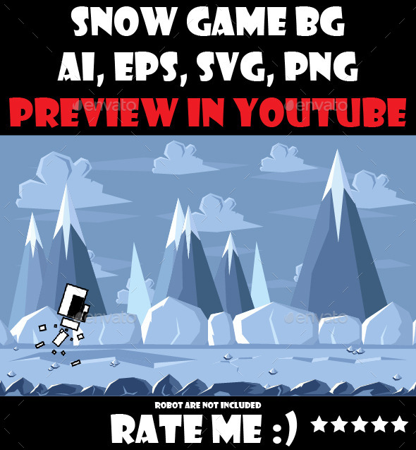 GraphicRiver Snow game background 10954873