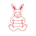 Cute Rabbit with I m So CuteText Banner - PhotoDune Item for Sale