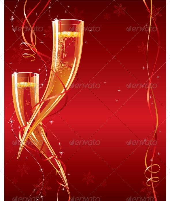 GraphicRiver Happy New Year Christmas greeting card 135956