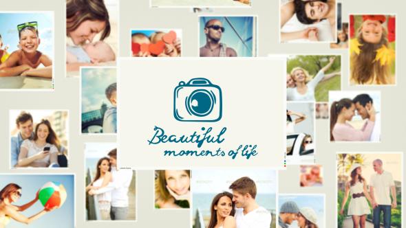 AE模板:结婚周年纪念 家庭生活照片展示 小孩生日聚会 旅游假期专辑 美丽生活瞬间模板