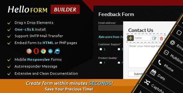 CodeCanyon Hello Form Builder Contact Form 10955164