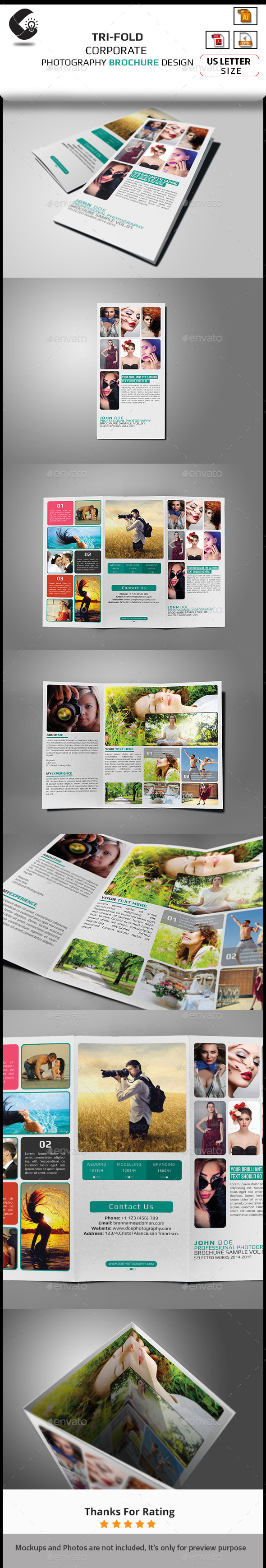 GraphicRiver Photography Brochure 10955287