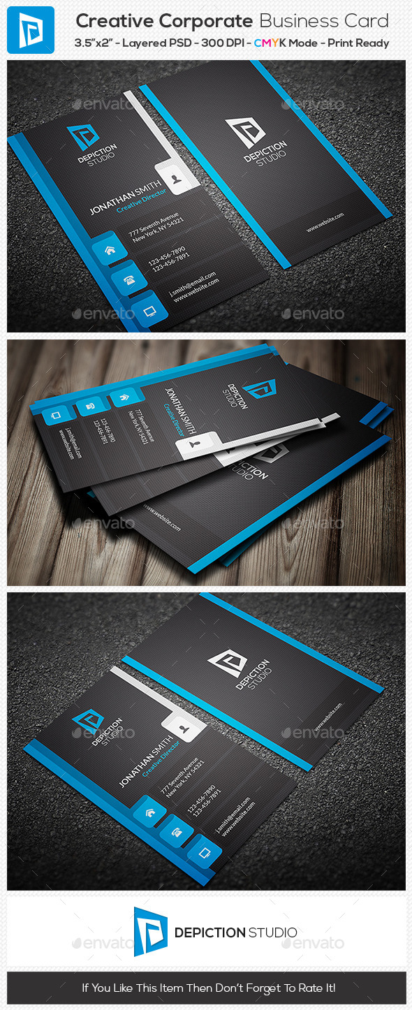 GraphicRiver Creative Corporate Business Card 10955288