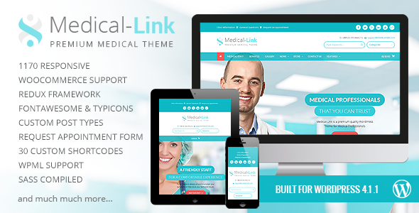 Medical Link - Responsive Medical WordPress Theme