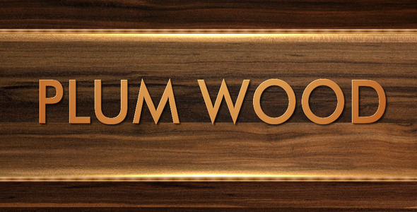 After Effects Project - VideoHive Plum wood 128591