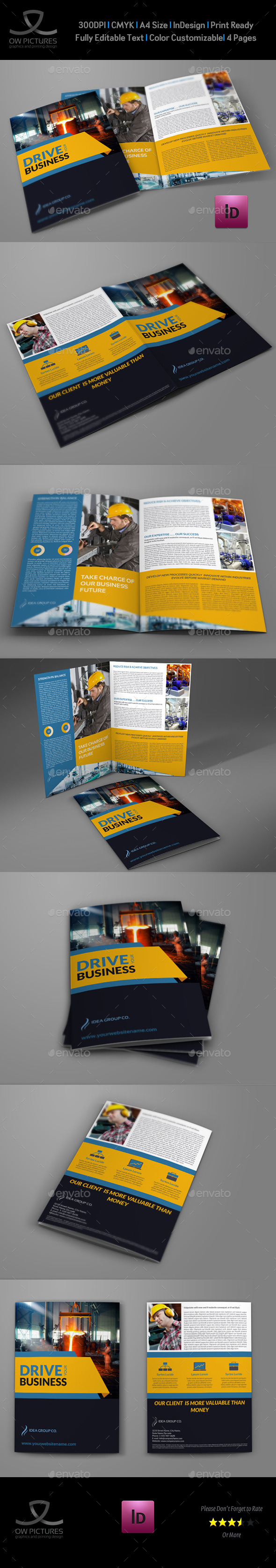 GraphicRiver Industrial Company Brochure Bi-Fold Template Vol2 10955458