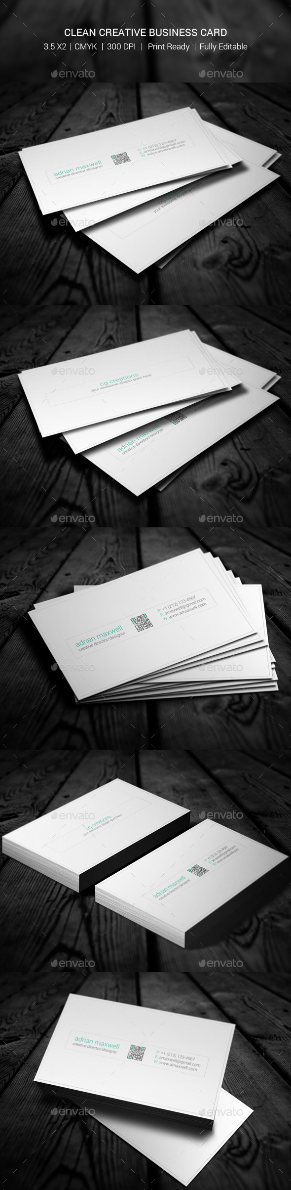 GraphicRiver Clean Creative Business Card 10955632