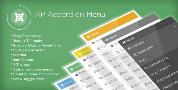 CodeCanyon AP Accordion Menu Joomla Module 10955719