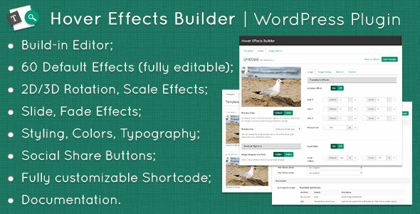 CodeCanyon Hover Effects Builder WordPress Plugin 10932318