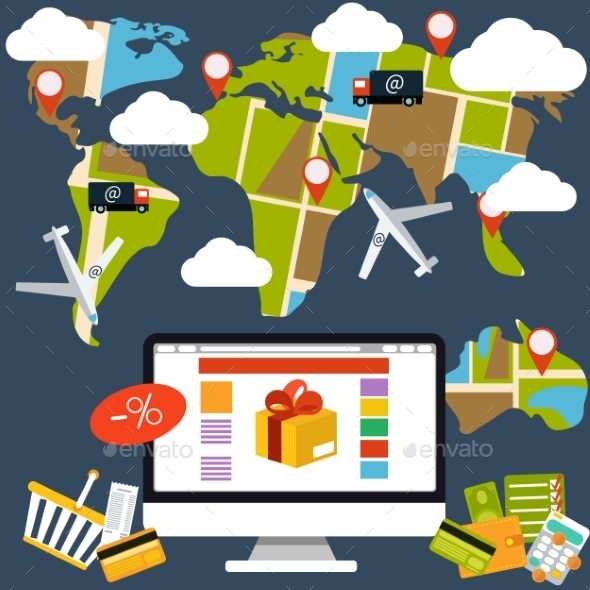 GraphicRiver Shopping Process and Delivery 10955902