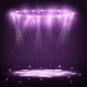 Stage with Spotlights and Spark Rain. - GraphicRiver Item for Sale