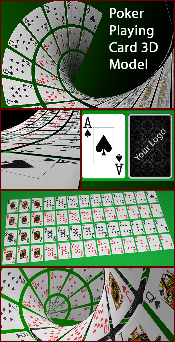 3DOcean Poker Playing card 3D Model 10957122