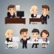 Businessmen at the Table Teamwork - GraphicRiver Item for Sale