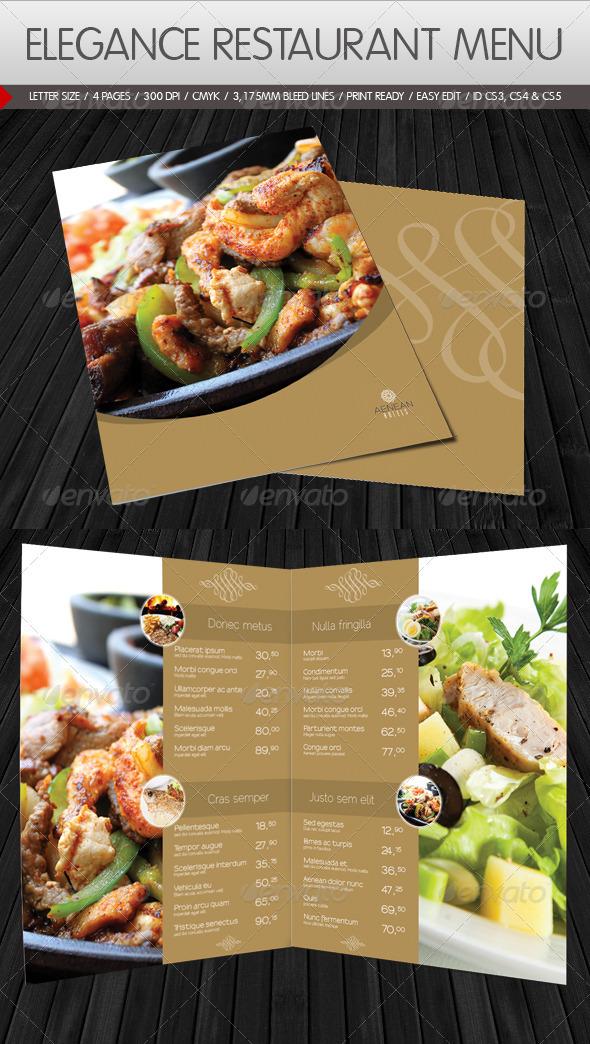 Graphic River Elegance Restaurant Menu Print Templates -  Food Menus 943116