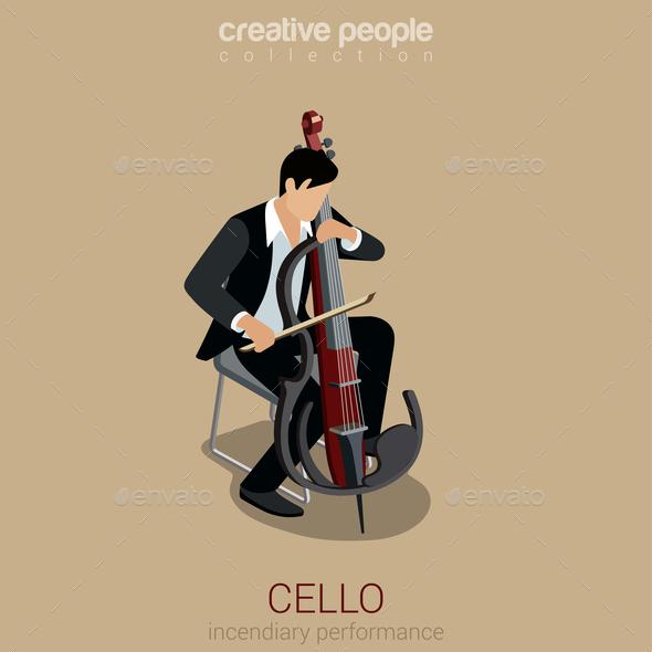 GraphicRiver Cello Musician 10957351