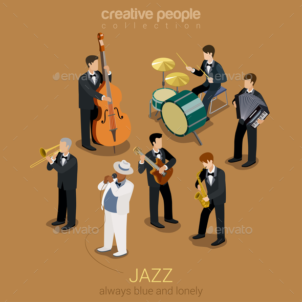 GraphicRiver Jazz Band 10957368