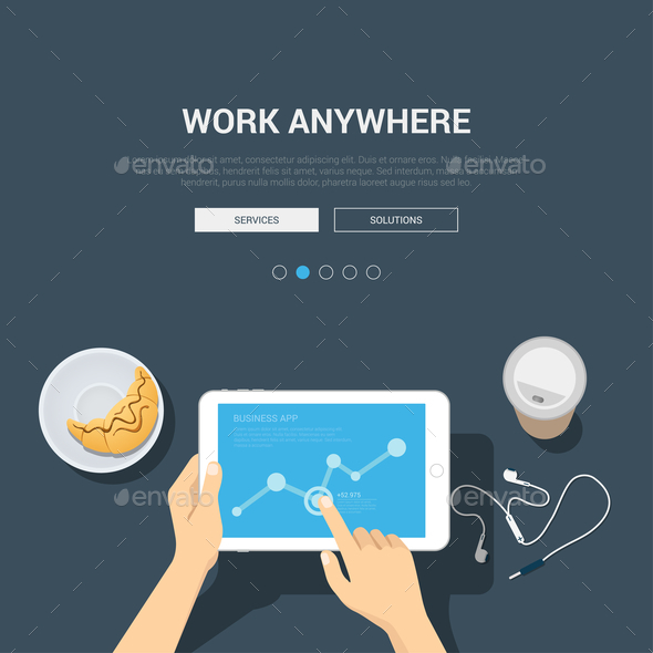 GraphicRiver Work Anywhere Concept 10957375