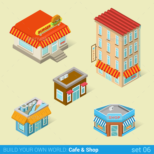 GraphicRiver Cafe and Shops 10957379