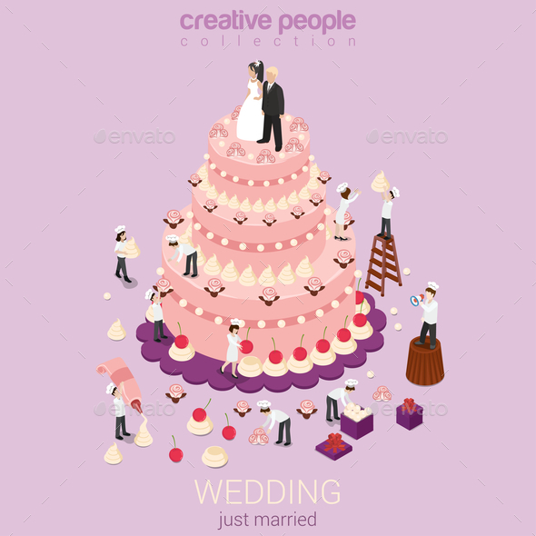 GraphicRiver Wedding Cake 10957383