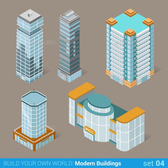 GraphicRiver Modern Buildings 10957389