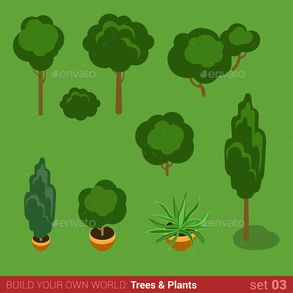 GraphicRiver Trees and Plants 10957392