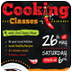 4 Cooking Classes Flyers / Posters  - GraphicRiver Item for Sale