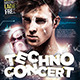 Techno Concert Dj Party - GraphicRiver Item for Sale