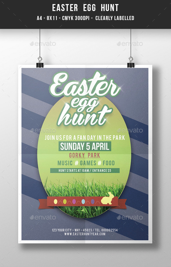 GraphicRiver Easter Egg Hunt Template 10957506