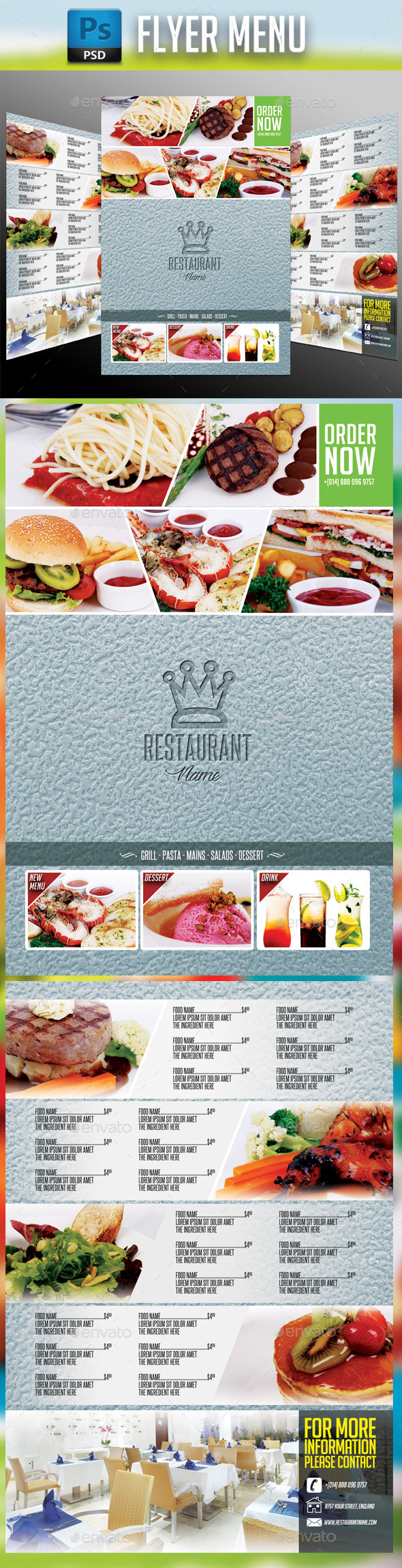 GraphicRiver Restaurant Menu #3 10957585