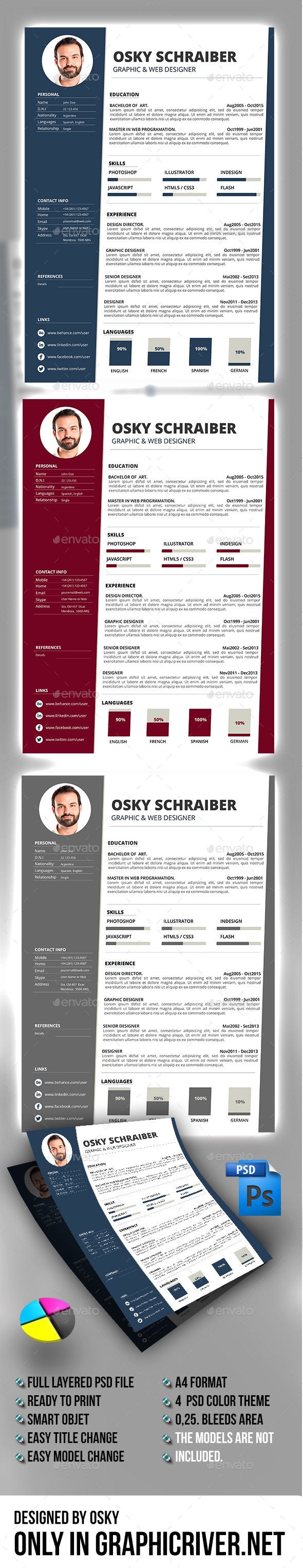 GraphicRiver Resume V01 10957586