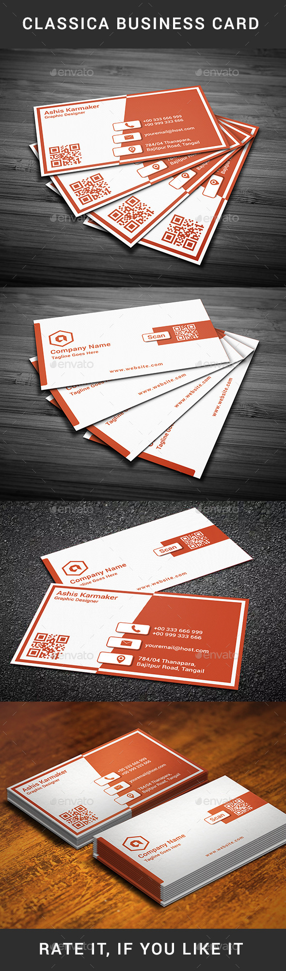 GraphicRiver Classica Business Card 10958162