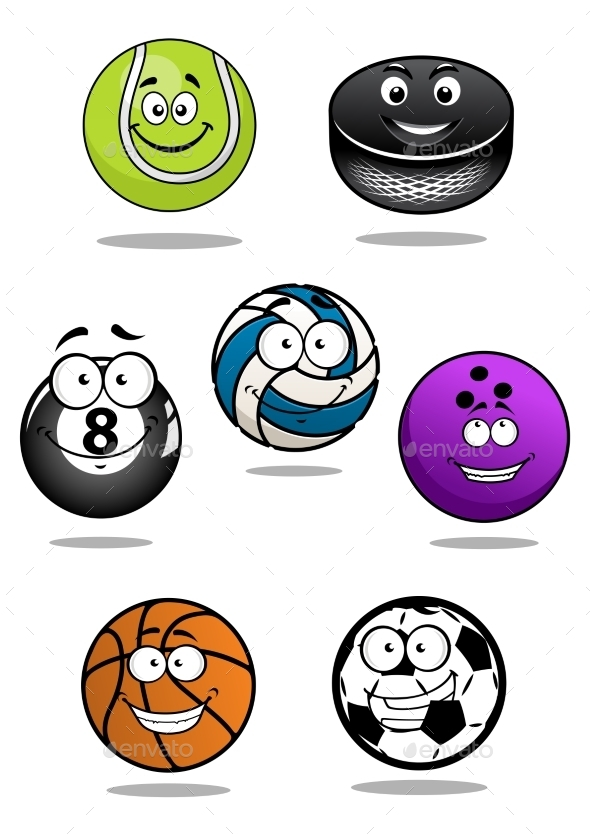 GraphicRiver Cartoon Sports Equipment 10958227